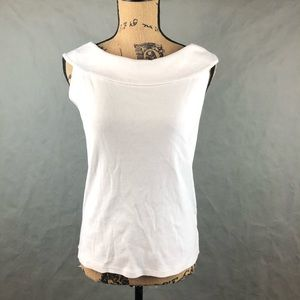 White Rafaella Sleeveless Top
